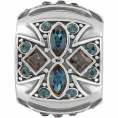 Jeweled Cross Bead x 2
