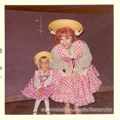 """classicactresses: """" Agnes Moorehead & Erin Murphy (Bewitched-Behind the scenes) """" Wish I had a red-headed imperious auntie in my life. LOL!!!"""