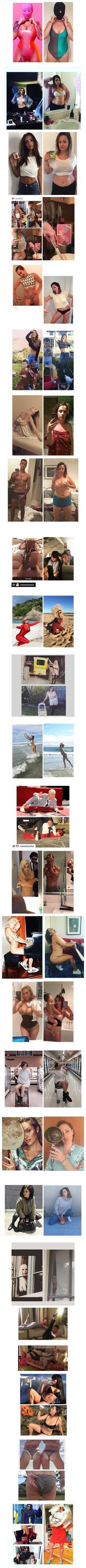 Wooman Selesta Barber reenacts celebrities photo — ANONS BEST FILMS