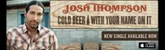 """Josh's Bio. Dont forget to check out the new single """"Cold Beer with Your Name On It"""""""