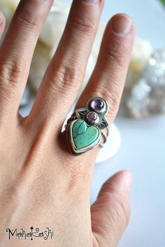 birthstone engraving unique style boho,gypsy solid silver ring butterfly stack tourmaline