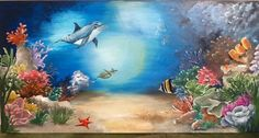 Reef fish mural by Julie Shaw