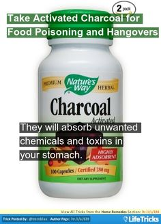 Home Remedies - Take Activated Charcoal for Food Poisoning and Hangovers