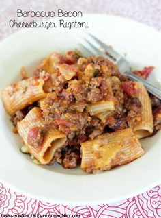 Baked Barbecue Bacon Cheeseburger Pasta