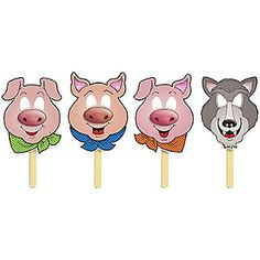 Three Little Pigs Fairy Tale Masks