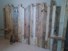 Reclaimed wooden headboard Reclaimed wooden headboard Get more photo a