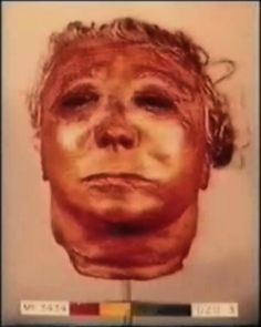 One of Ed Gein's nine human skin masks found in his house.