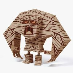 Tektonten Papercraft - Free Papercraft, Paper Models and Paper Toys: Mummy #Papertoy #Halloween