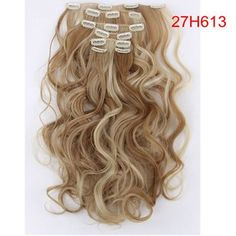 Material : Japan hightemperaturefiber Length : 20inch 50cmWeight : 120g(include clips) Color : Multicolor Hair Extension type : Full head hair Model number : 999 Item per package : 7Piece/set 1 pcs - 8 inch piece ( for the back of the head ) with 4 clips 2 pcs - 5 inch pieces ( for the back of the head ) with 3 clips 2 pcs - 3 inch pieces ( for the sides of the head ) with 2 clips 2 pcs - 1.5 inch pieces ( for the sides of the head ) with 1 clip