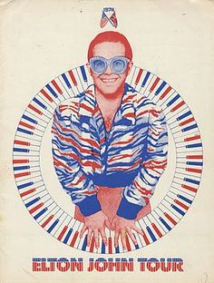 Elton John - Olympia Stadium, November 14 & Went to all three shows. This is a poster from that tour. Pop Posters, Concert Posters, Band Posters, Vintage Rock, Vintage Music, Elton John Costume, Captain Fantastic, Pochette Album, Glam Rock