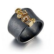 Todd Reed Gold And Oxidized Silver Raw Diamond Ring