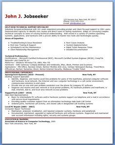 it help desk support resume sample - Wwwresume Helporg