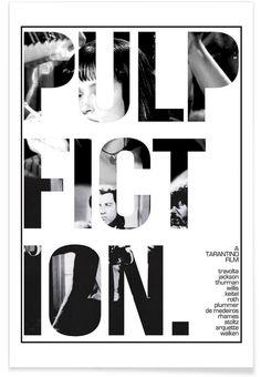Pulp Fiction als Premium Poster von Mikie Daniel   JUNIQE