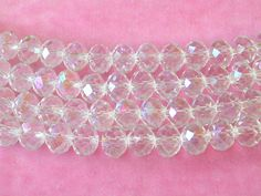 Clear Crystal Beads 8x10mm Clear AB Beads  72 by wimsy on Etsy (Craft Supplies & Tools, Jewelry & Beading Supplies, Beads, clear crystal beads, clear beads, AB crystal beads, 8x10mm clear beads, 72 crystal beads, clear AB beads, sparkly clear beads, 72 AB crystal beads, clear crystal AB, wimsy)