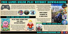 Online games are very popular; there are many ways to play free games online now. Browse this site http://gametimeprime.com/ for more information on play free games online now. While there are many websites that offer online games, not all of them are free.  Follow us: http://www.aboutus.com/Free_Games_Online_Play_Without_Downloading