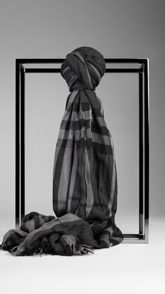 Check Crinkled Scarf | Burberry