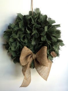 A personal favorite from my Etsy shop https://www.etsy.com/listing/159665442/christmas-wreath-burlap-wreath-green
