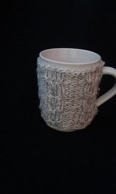 Gray Cup Sleeve, Cup Cozy, Gray  Cup Cozy, Mug Cozy by JsCreations05 on Etsy