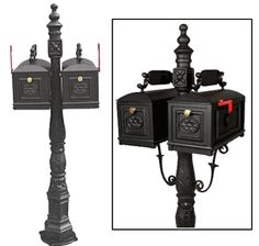 Double Curbside Mailbox with Ornamental Post Cheap Mailboxes, Driveways, Garages, Home Improvement, Twins, It Cast, Decor, Sidewalks, Decoration