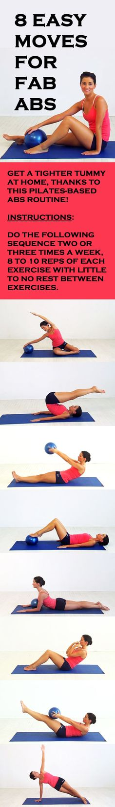 8 easy moves for fab abs! #abs #sixpack #flattummy #abworkout #pilates #abexercise #fitness