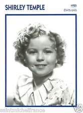 SHIRLEY TEMPLE ACTRICE ACTRESS FICHE CINEMA USA 90s
