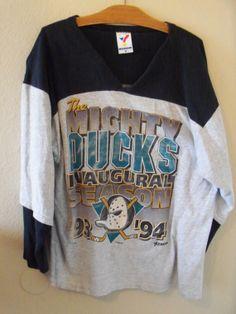 1993 Mighty Ducks Inaugural Season Jersey Disney by DustyOldBones, $20.00