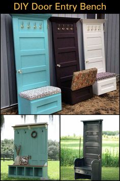 Build an Entry Bench For Under $60 Using Old Wooden Doors!