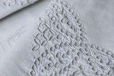 Traumhaftes Leinen Kopfkissen Lochstickerei Handarbeit 1900,Linen Pillowcases