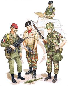 • Tpr., 1st The Queen's Dragoon Guards; Beirut, Oct. 1983 • French paratrooper, 3 ͤ RPIMa; Beirut, Oct. 1983 • Italian Marine, 'San Marco' Bn; Beirut, Aug. 1983 • US Marine, 24th MAU; Beirut, Oct. 1983