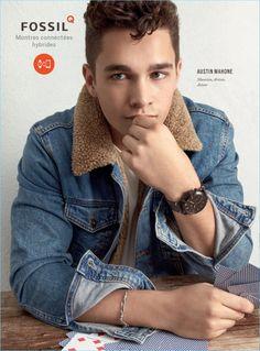 Austin Mahone 2017 Fossil Advertising Campaign Denim Jacket