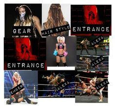 """""""ember moon vs alexa bliss"""" by dani-loves-wwe-music ❤ liked on Polyvore featuring art"""