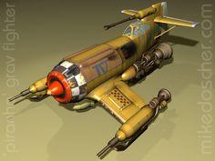 Piranha Fighter - Textured by *MikeDoscher on deviantART
