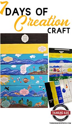 7 Days of Creation Printable and Craft Use the 7 Days of Creation Printable to teach your kids about the seven days of Creation with this fun painting Bible craft!