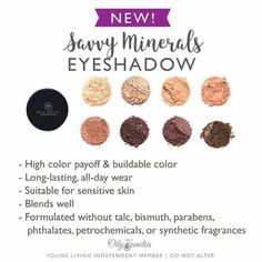 Savy Minerals eye shadows by Young Living
