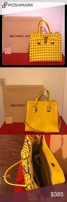 Michael Kors pretty bag Magazine section! so special and nice color! Looks good! With the box and card Michael Kors Bags Shoulder Bags