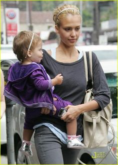 Jessica Alba with Charlie in Light Brown