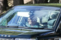 Prince Philip driving a Land Rover through the Balmoral Estate in Scotland in September 20...