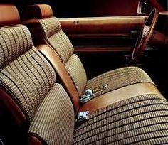 Standard 1973 Cadillac Eldorado Coupe interior in Medium Beige Manchester Houndstooth Pattern Fabric (trim code Cadillac Eldorado, Manchester, Houndstooth Fabric, Classic Cars, Classic Auto, Cadillac Fleetwood, Interior Trim, Buick, Interiors
