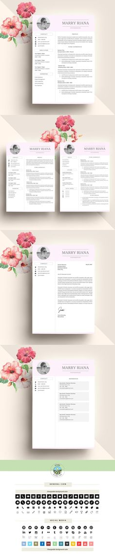 Resume Template And Free Cover Letter, Resume Word, Photo Resume