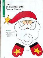 Moldes Para Artesanato em Tecido: Jogo Americano Papai Noel Com Molde.
