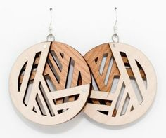 lasercut wood earrings - Google Search