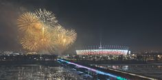 Stadion Narodowy od Strony Centrum / Warszawa Nocna