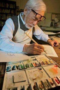 Hayao Miyazaki - Studio Ghibli - Spirited Away Hayao Miyazaki, Studio Ghibli Films, Art Studio Ghibli, Studio Ghibli Quotes, Film Animation Japonais, Personajes Studio Ghibli, Otaku, Ai No Kusabi, M Anime
