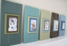 Long Dark Teal Cottage Plank Frame for 4X6 by ProjectCottage