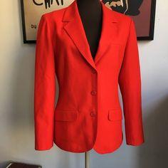 Vintage Pendleton Red Wool Jacket Blazer Women's Size 12 #Pendleton #Blazer