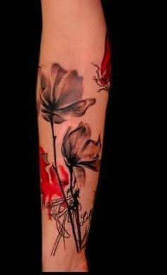 Image result for abstract floral tattoo