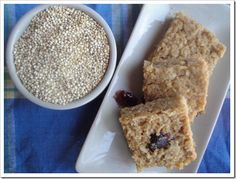"Quinoa Oat Protein Bars (for after work outs)-  want to try, but wow...I've never ""sprouted"" anything!"