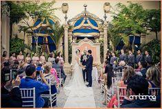 Vows at Vizcaya Museum & Gardens #wedding #ceremony #miami