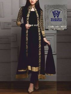 ab8e6a12ee Black long koty style dress /cloth women's online shopping for embroidery  koti |coti design