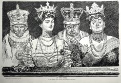 U.S. Beauty and The Beasts, Pen & Ink drawing, 1907 // By Charles Dana Gibson